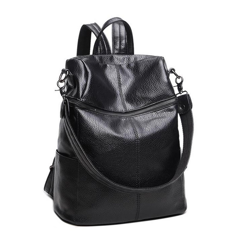 9263fe6e6685 2017 fashion women backpack good quality school backpacks for teenage girls  travel backpacks casual leather backpacks -in Backpacks from Luggage   Bags  on ...