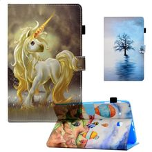 Case For Samsung Galaxy Tab E 8.0 T377 T375 Cartoon Unicorn Wallet Pu Leather Stand Cover SM-T377V