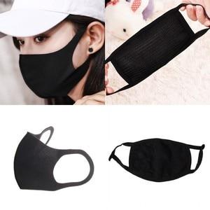 Image 1 - 1 шт., дышащая черная маска для рта в стиле K POP