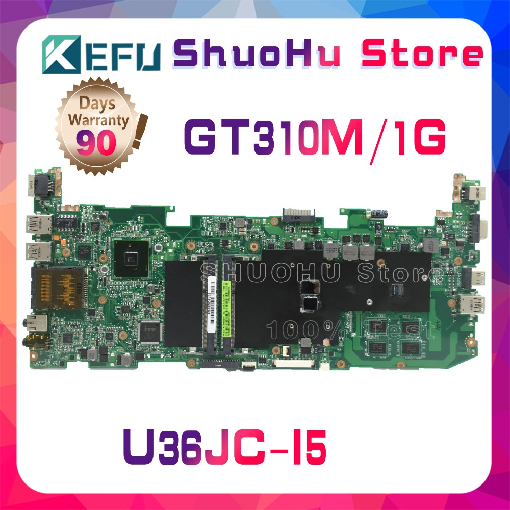 цена KEFU For ASUS U36JC U36J I5-460M I5-480M GT310M laptop motherboard tested 100% work original mainboard