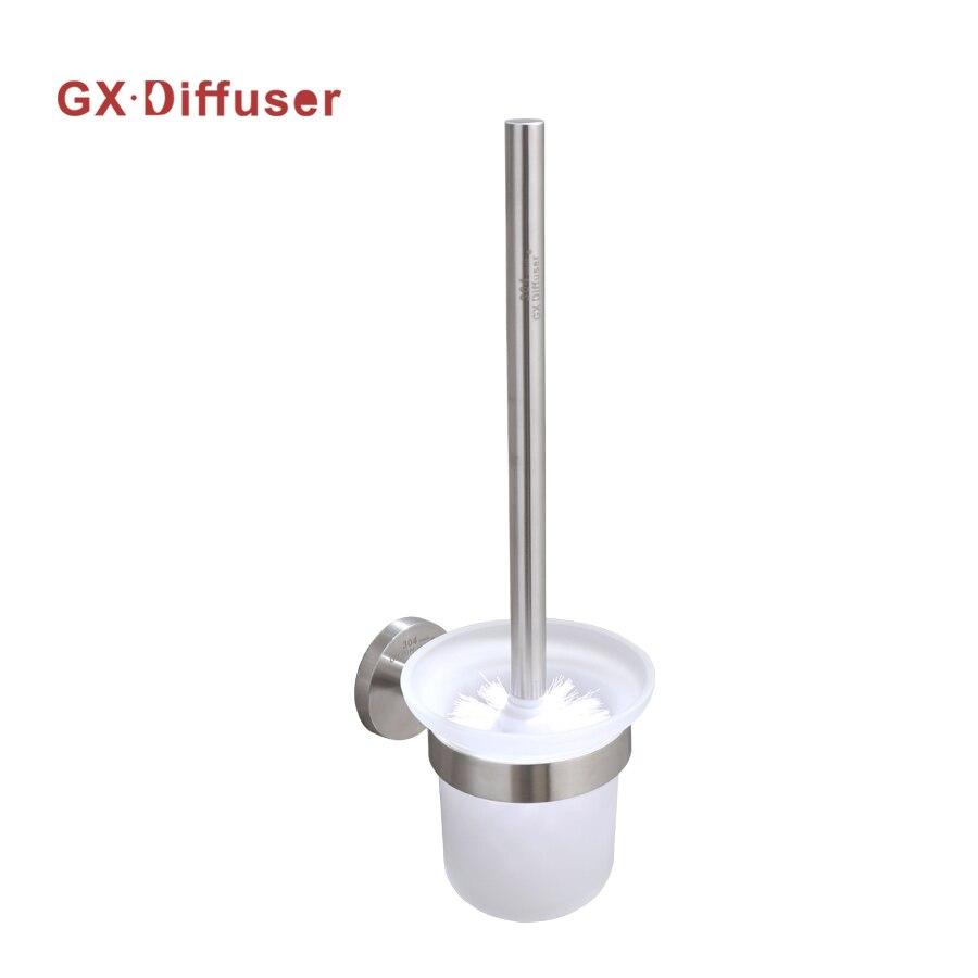 Brush Holder Toilet Stainless Steel Brush Toilet Round Base Shape GX DiffuserBrush Holder Toilet Stainless Steel Brush Toilet Round Base Shape GX Diffuser