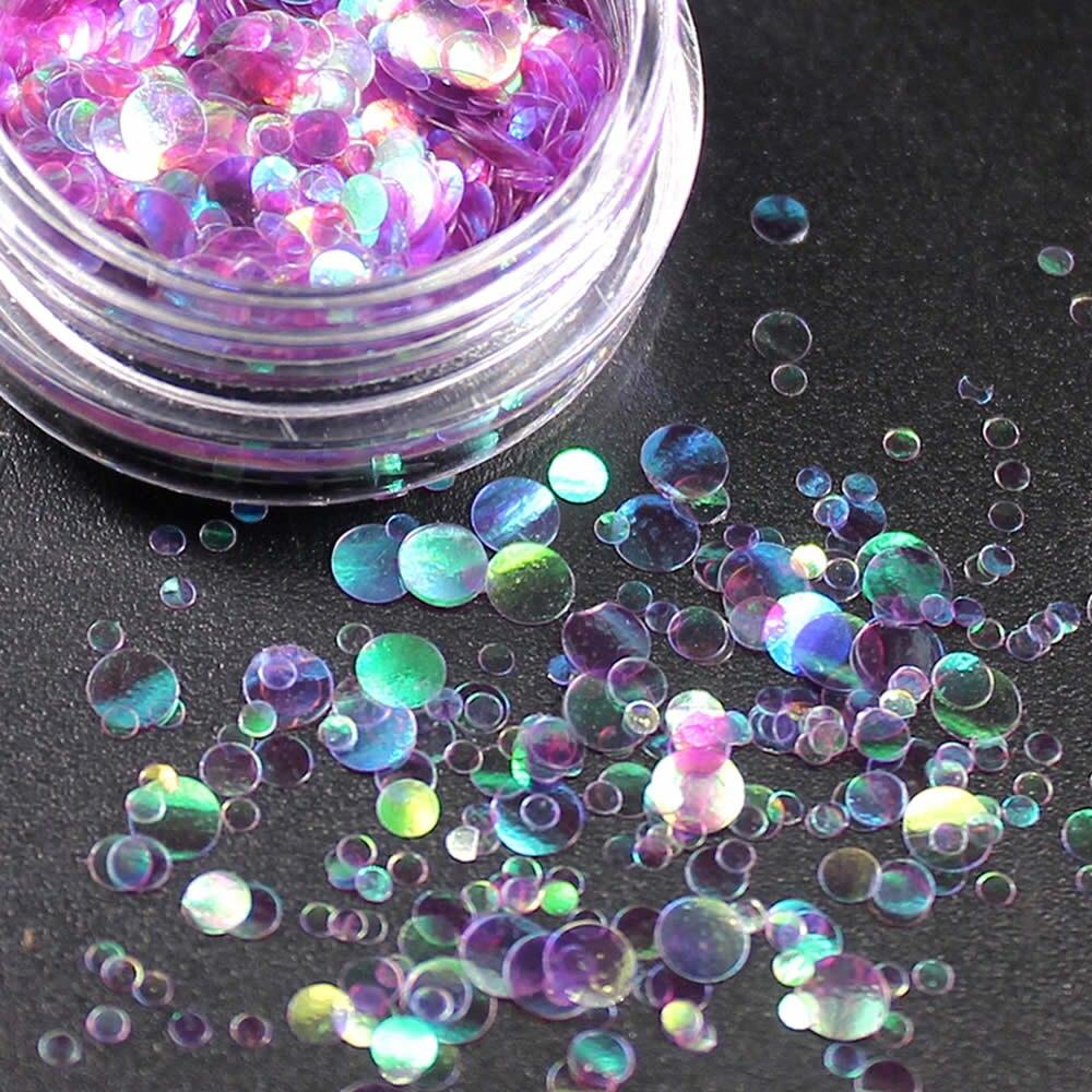 1 коробка блестящие круглые ультратонкие блестки Красочные Блестки для дизайна ногтей УФ гель 3D декоративный Маникюр DIY аксессуары NR234 - Цвет: Бургундия
