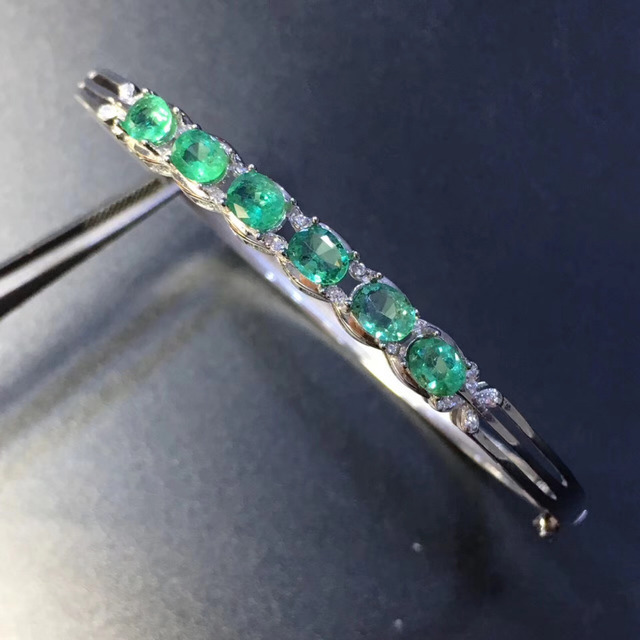 img zircon and emerald index bangles