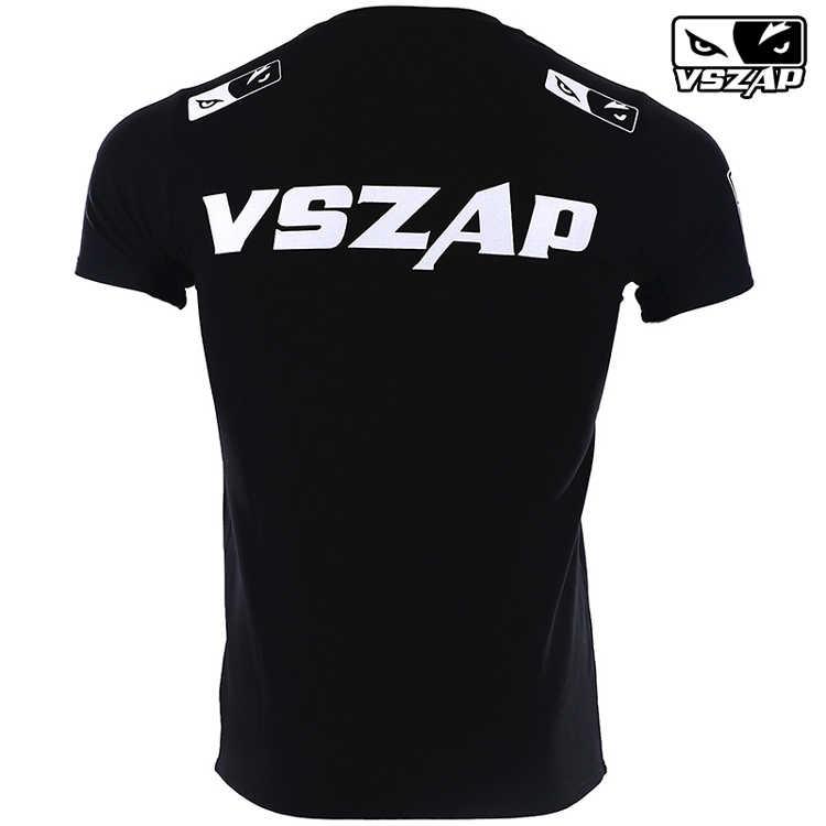 Vszap Tinju Pakaian Celana Pendek Mma Jersey Mma Tinju Olahraga Gym T Shirt Muay Thai Pertempuran Kebugaran Elastisitas Baju Kaus