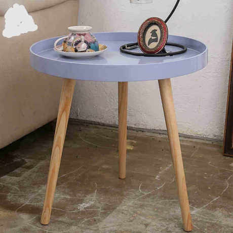 Coffee Tables Living Room Furniture Home Furniture solid wood end table minimalist modern round tea table basse 50*50*50 cm desk end table