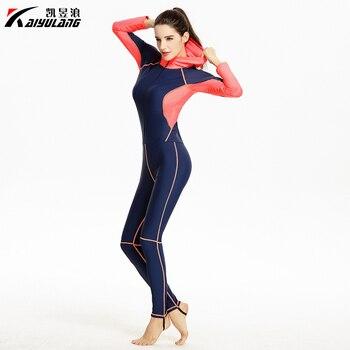 Muslim Long Sleeves Swimsuit with Hat Deep Blue Black One-Piece Long Leg Swimwear Sun Block Women Bathing Suit Female Newest KYL