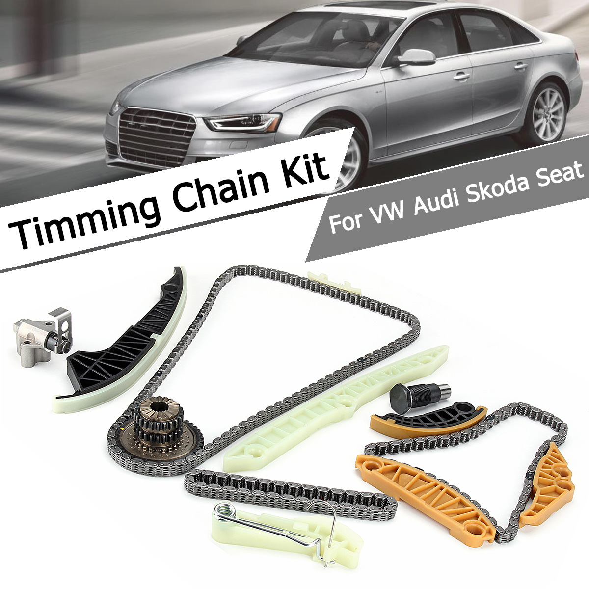 1.8T/2.0T Car Engine Timing Chain Tensioner Repair Kit For Audi A3 A4 A5 A6 Q5 /VW Golf Tiguan Jetta CC Passat B6 EOS 06K109467K new timing chain kit 13 pcs for audi a3 a4 a5 a6 q5 tt allroad vw beetle eos gti jetta passat b6 tiguan cc 06k109158a 06k109467k