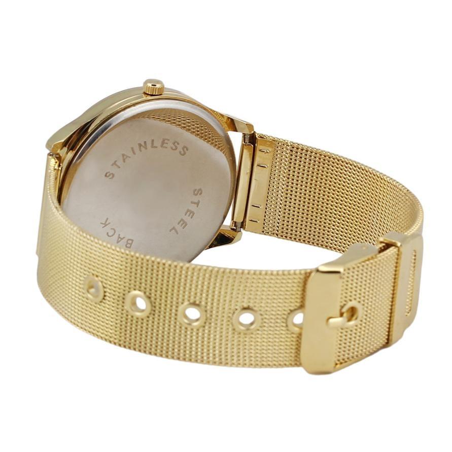 Üstün Yeni Moda Klasik Altın Kuvars Paslanmaz Çelik Bilek İzle - Kadın Saatler - Fotoğraf 5