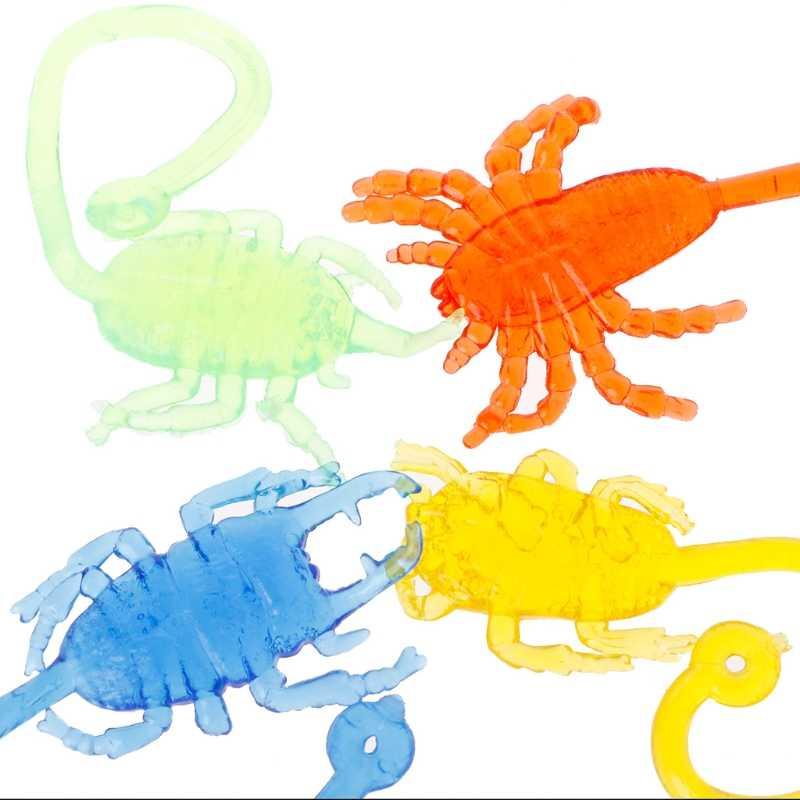 Inseto pegajoso Elástico Clássico Engraçado Crianças Brinquedo Escalada Boneca Animal de Partido Favor W15