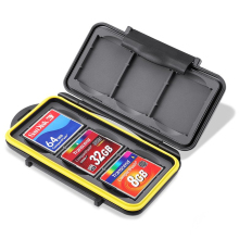 CF Card Holder, 6 Slots Water Shock Resistant Protector Compact Flash Card Holder for CF Cards