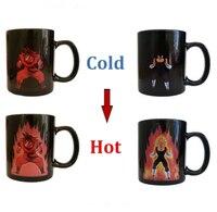 Livraison gratuite Dragon Ball Z café tasse Goku Vegeta chaleur réactive changement de couleur changement tasse en céramique canette tasses nouveauté tasses cadeau