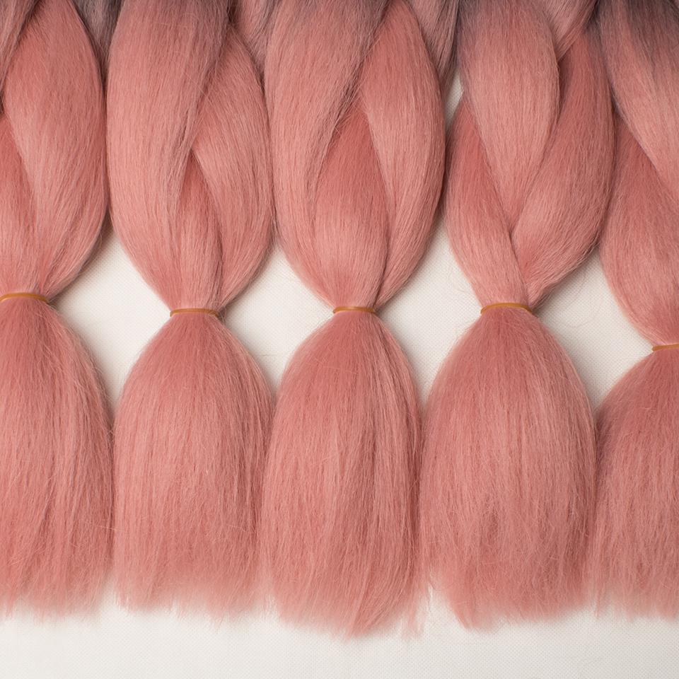 leeven слон потому что омбре Canon тарелке синтетический волос 24 '100 г bologna Board черный розовый крючком волосы розария 1 кусок