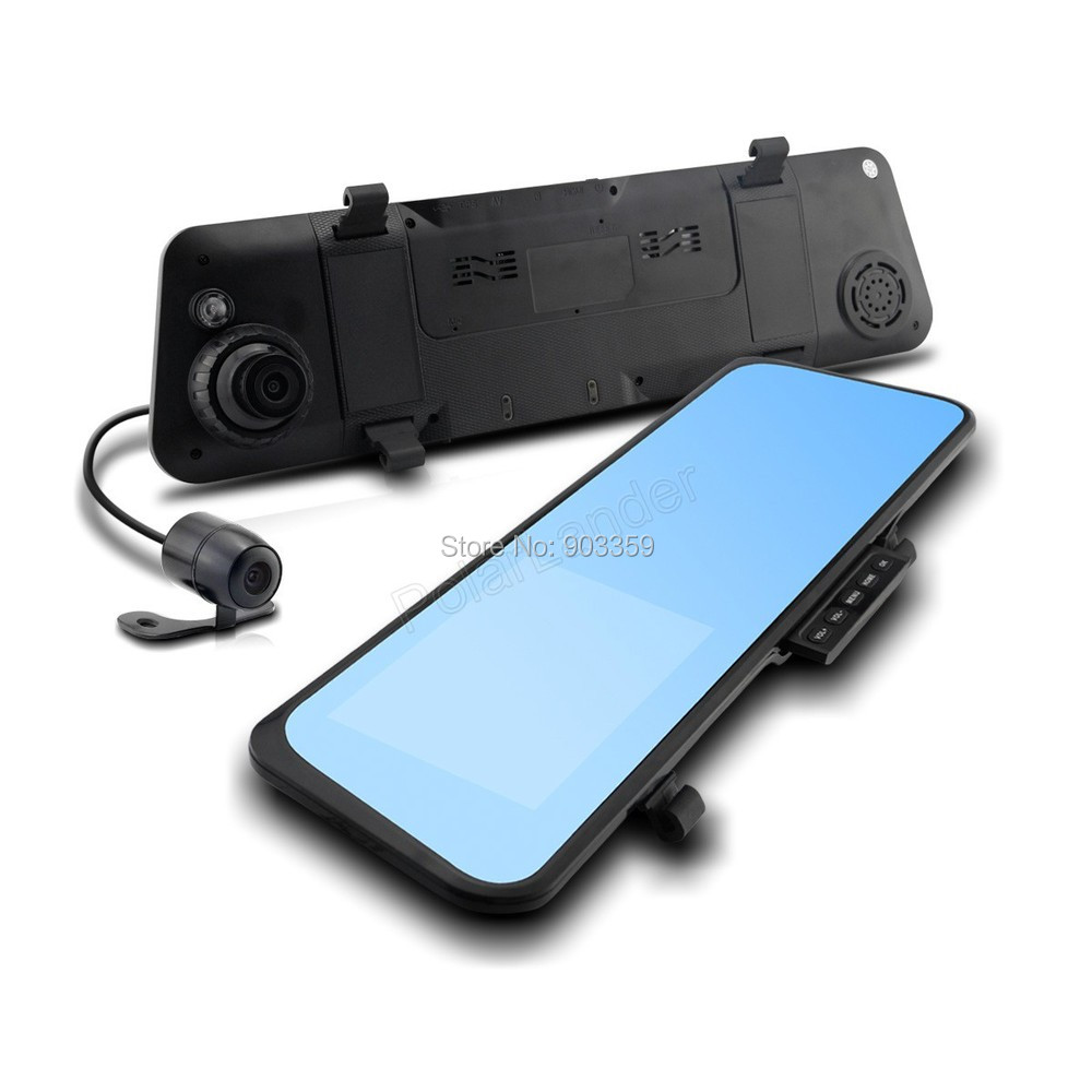 ФОТО 6000C Car Rearview Mirror Camera Video Recorder Car DVR Dual lens Full HD 1080P Camcorder Dash Cam G-Senor Night Vision