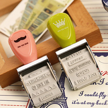 1 x  crown roller stamp diy stamps for scrapbooking kawaii stationery zakka decal material escolar school supplies