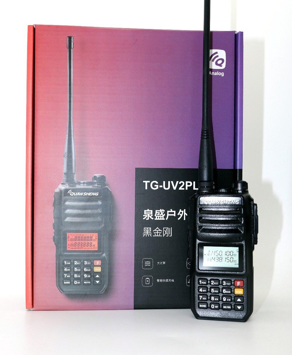 Quansheng TG-UV2 plus Talkie Walkie VHF UHF Double bande 10 W 200CH Portable cb radio UV2 plus Émetteur-Récepteur avec 4000 mAh batterie