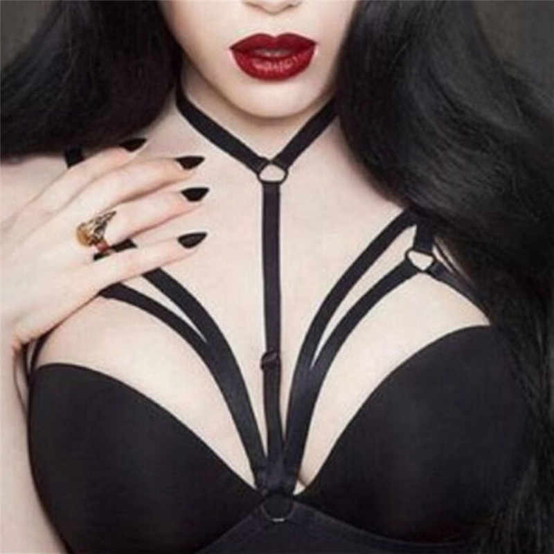 Sexy Women Erotic Bandage Tops Bra Strappy Open Bra Gothic Chest Harness Lingerie Garter Strap Underwear Belt