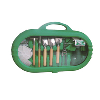 1 Set 9 PIECE Garden Tools Scissors Shovel Harrow Home Supply Stainless Steel