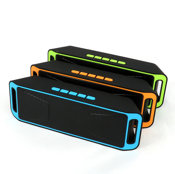 REDAMIGO Portable Bluetooth Speaker Portable Subwoofer Bass Wireless Speakers wireless Amplifier Stereo with mic SC208