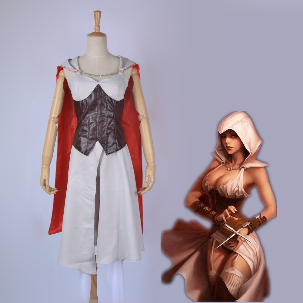 Athemis gane Assassin's Creed Female assassin Cosplay Costume custom made set High Quality