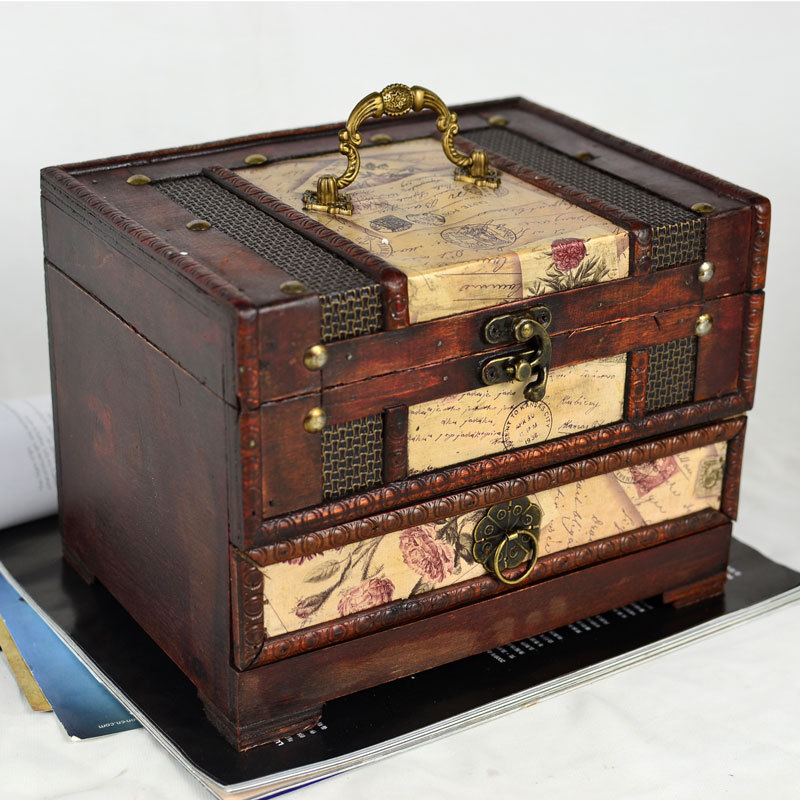 do the old antique vintage jewelry box vanity box with