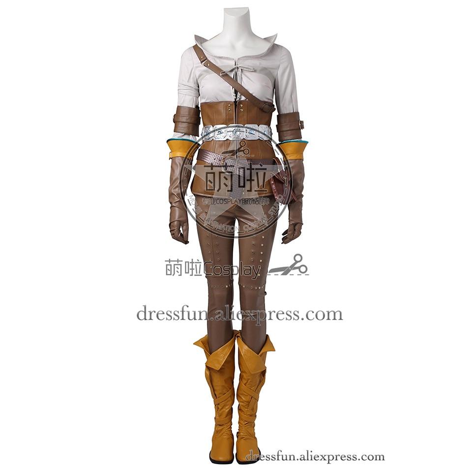 The Witcher 3 sauvage chasse Cosplay Costume Cirilla (Ciri) Fiona Elen Riannon Costume Halloween ensemble complet uniforme expédition rapide