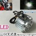 Super Bright Chrome Electric Motor Bike Motorcycle LED Headlight Driving Fog Spot Work Headlamp Spotlight Head Night Light Lamp