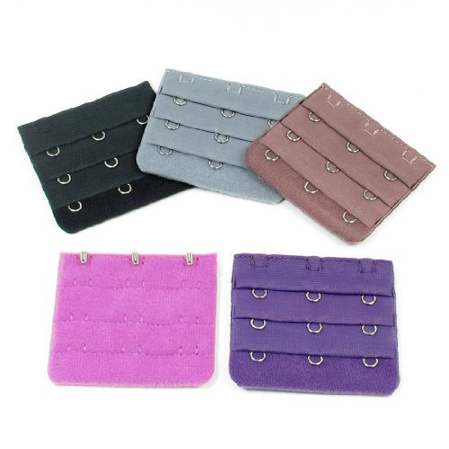 HOT 5pcs Lady Underware Hook w Eye Tape Bra Strap Extender Purple Gray Fuchsia