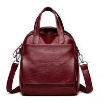 2018 New Fashion Women Backpack Leather Women's Shoulder Bag Backpack Female School Bags for Teenage Girls