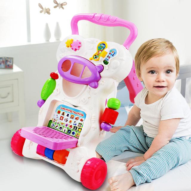 2017 tempo-limitado bebê caminhantes crianças cars impulso mão brinquedo elétrico música aprendizagem da primeira infância educação montar e aprender para andar