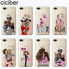 ciciber Super Mom Boy Phone Case for ASUS Zenfone 4 Max Plus Pro ZC554KL ZC520KL Soft Silicone Cover for ZenFone Go ZB500KL Capa аксессуар чехол asus zenfone 4 max 5 5 zc554kl brosco silicone transparent as zf4m5 5 tpu transparent