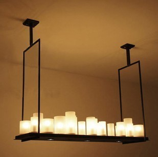 New Modern kevin reilly - alterar 95 cm LED E27 E14 ferro droplight engenharia velas retângulo de luz pendente lâmpada shippi livre