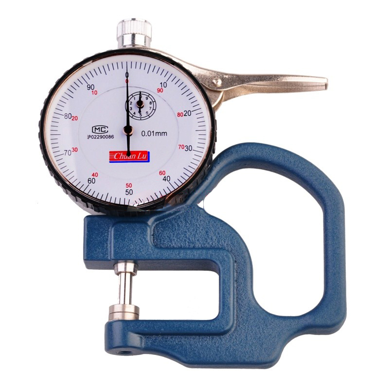 Thickness Gauge  / 0.01 leather/ cloth/ paper /film thickness meter Percentage mechanical Pointer display 0 5mm 0 001mm mechanical micrometer gauge dial thickness gauge for film paper