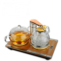 Fully automatic water electric kettle tea set with stove glass