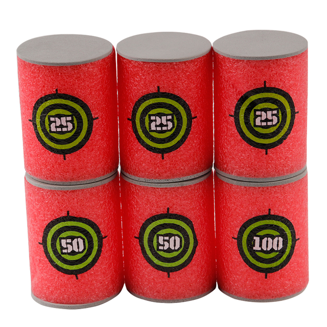 6PCS Foam Drink Bottle Bullet Training Supplies Toy Targets Shot Dart Nerf Set for N-strike Fixed Elite Games Soft  Annex Toys 5