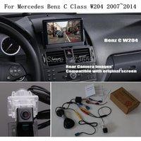 Car Rear View Camera For Mercedes Benz MB C Class W204 2007~2014 Car Back Up Reverse Camera RCA & Original Screen Compatible