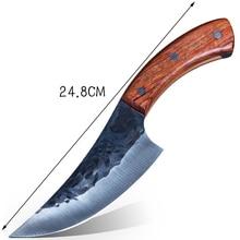 Couteau de forgeage en acier à haute teneur en carbone japonais fabriqué à la main par le chef tang, tranché avec un couteau de cuisine, couteau de boucher
