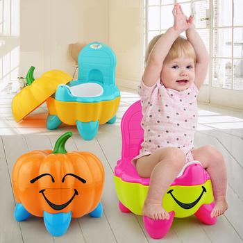 Nocnik dla dzieci Cartoon dynia plastikowa doniczka przenośny do samochodu krzesełko z nocnikiem szkolenia Pan toaleta Bedpan pisuar toaleta dla dzieci tanie i dobre opinie Z tworzywa sztucznego W wieku 0-6m 7-12m 13-24m 25-36m CN (pochodzenie) Unisex Baby Carry Potty Potties Babies Zwierząt