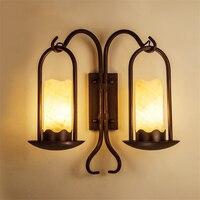 Скандинавские Ретро Винтажные Настенные светильники для лофта спальни прикроватные коридоры прохода лестницы Настенные светильники Осве
