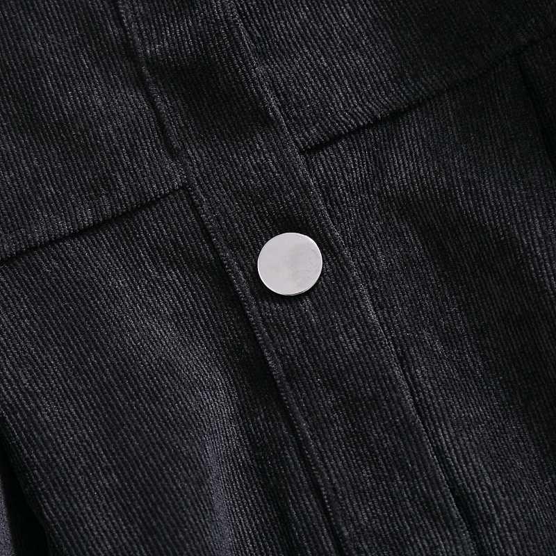 2019 Mori Girl весеннее женское платье-рубашка корейский шик Черный винтажный вельветовый кардиган длинный рукав элегантное милое длинное женское платье