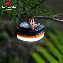 Naturehike portátil ao ar livre conduziu a luz de acampamento barraca magnética lâmpada pendurado tenda emergência luzes led duas cores
