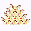 Anime Cartoon Monster Raichu Mini Plush Toys with Keychain Soft Stuffed Dolls 10pcs/lot 8cm