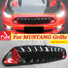 For Mustang Front Bumper Kidney Racing Grills Car Styling ABS Red & black 1:1 Replacement Fits For Ford Mustang grill grille 18+ aps f75349h black powder coated grille replacement for select ford expedition models