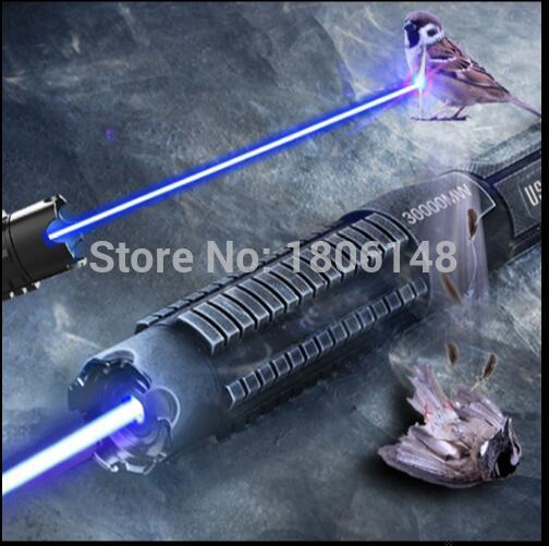 цена Most Powerful 500000mw 500w 450nm Blue Laser Pointers Flashlight Burn Match Candle Lit Cigarette Wicked LAZER Torch Hunting