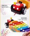 Original tractor de arrastre piano del golpe de madera juguetes de Xilófono para los niños infantiles de aprendizaje y juguetes educativos
