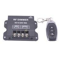 30A RF LED Controlador Dimmer DC 12 V-24 V Controle de Brilho Para LED Única luz Tira de Cor