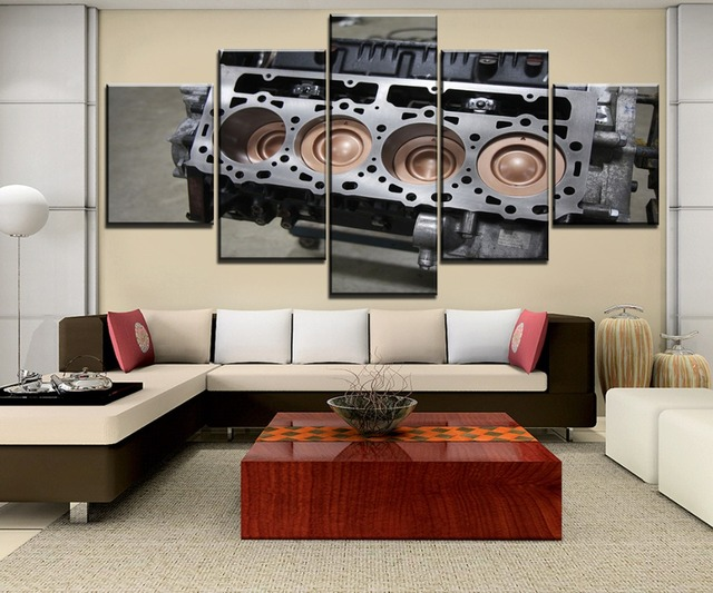 5 Pieces HD Printed Print Picture Poster Duramax V8 engine For Modern Decorative Bedroom Living Room Home Wall Art Decor