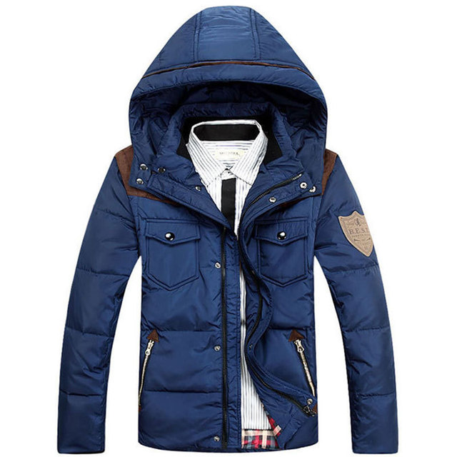 Feather Parkas Jacket  For Men 2016 Winter Duck Down Jacket Hooded Jacket Plumed Camperas Man Plus Size M-3XL MC204
