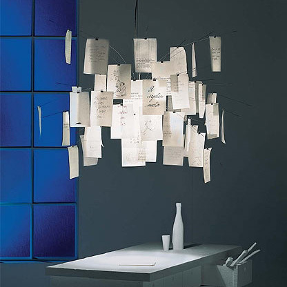 Nordic IKEA Ingo Maurer Zettle Newspaper Notes Edition DIY Chandelier Bedroom Lamp Living Room Lights