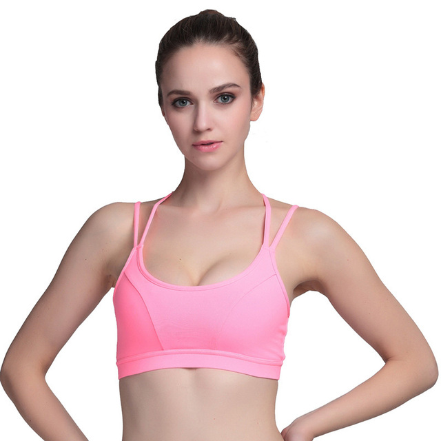 0aa601924c CALOFE Sport Bras Push Up women Top Gym Shockproof Spaghetti Strap Gym  Fitness Bras Top Padded