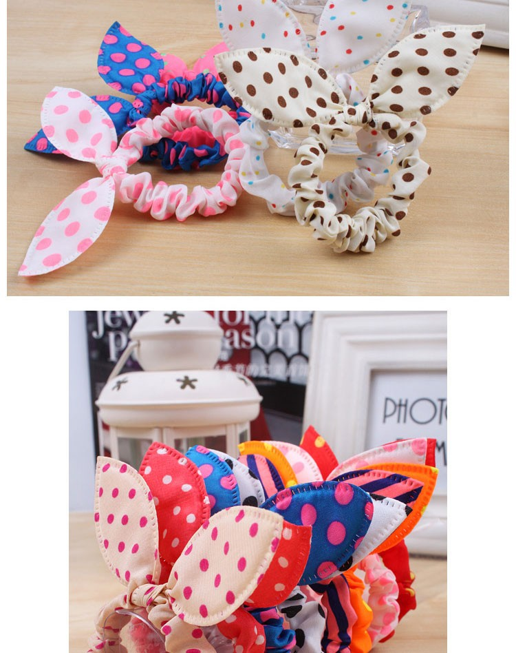 HTB11ohCKXXXXXXfXFXXq6xXFXXXM Cute Polka Dot Rabbit Ears Hair Tie For Women - Various Styles